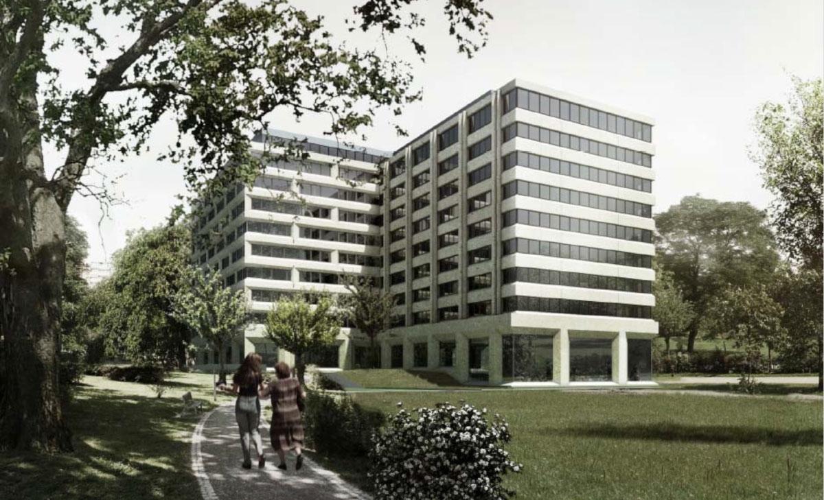 Immeuble caisse de compensation à Genève